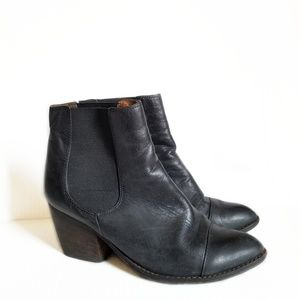 Jeffrey Campbell Montana Black Leather Boots 8.5